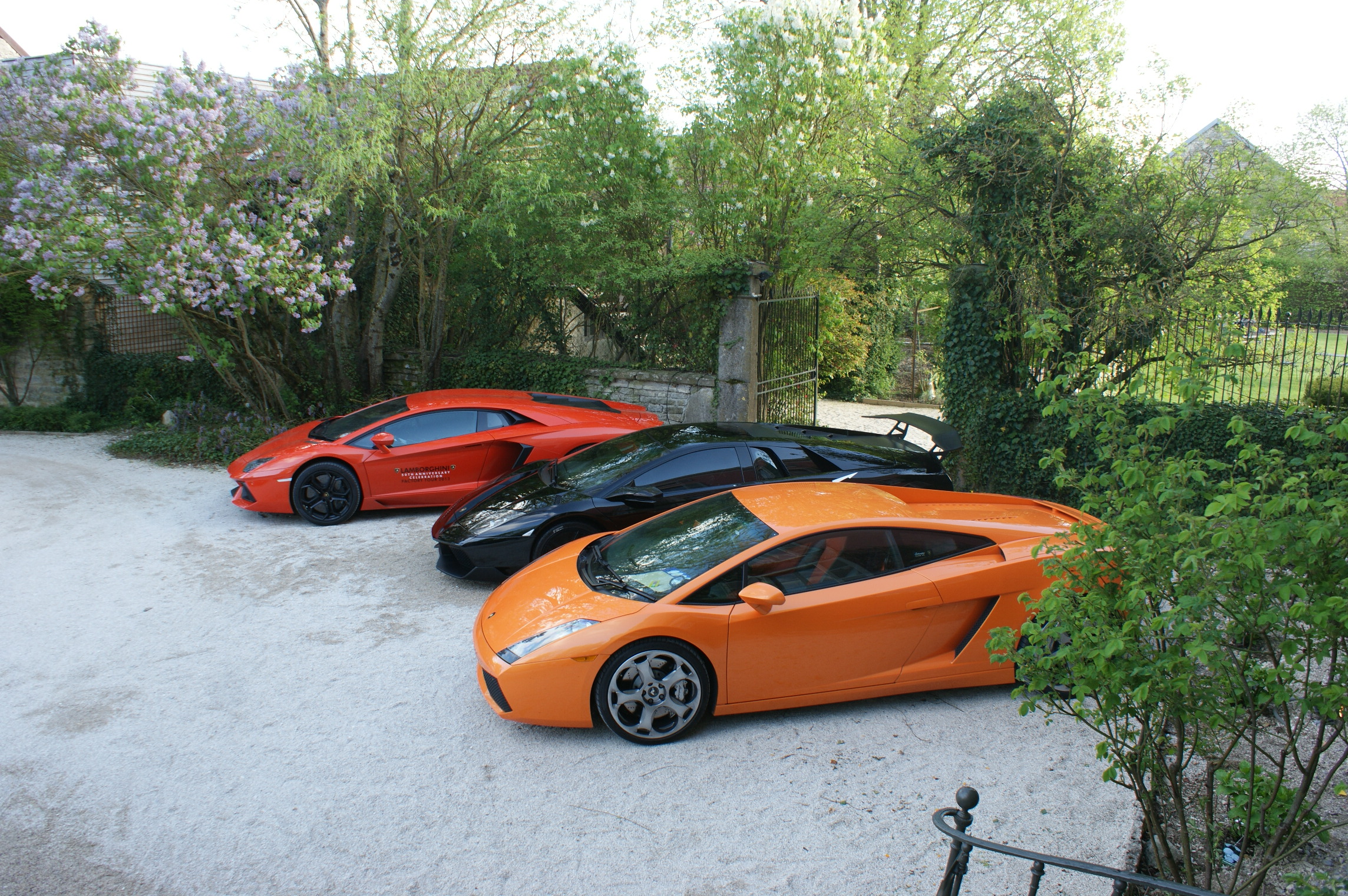 Sports cars at the Château de Courban